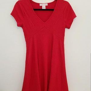 Planet Gold Red Skater Dress M